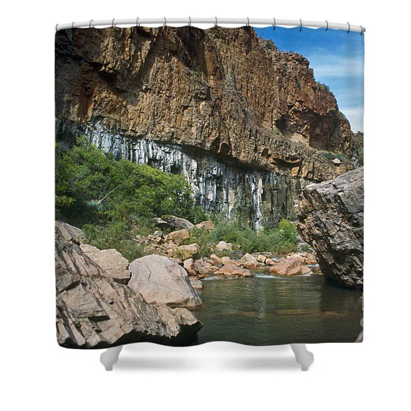 Landscape Shower Curtain featuring the photograph Deep Water by Kathy McClure