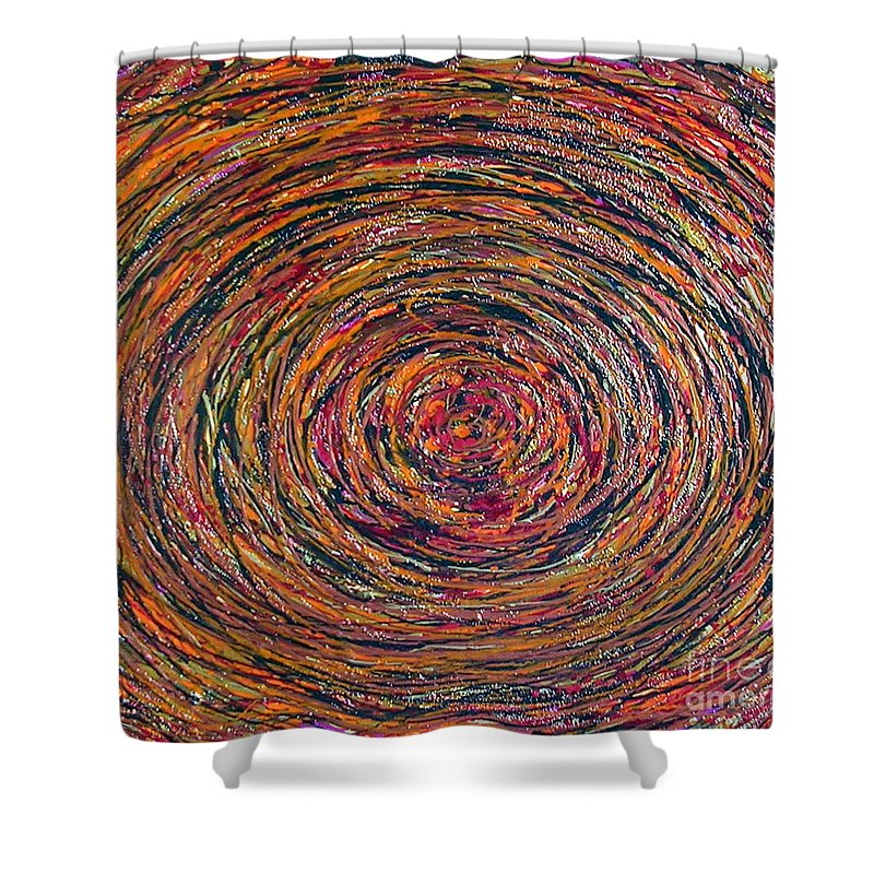 Deep Shower Curtain featuring the painting Deep Within by Dawn Hough Sebaugh