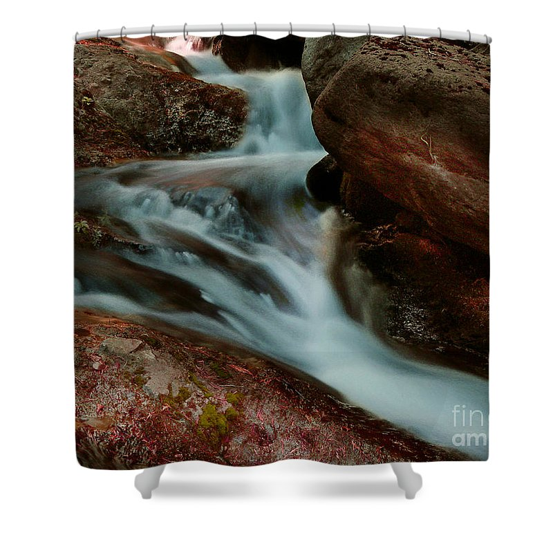 Creek Shower Curtain featuring the photograph Deer Creek 04 by Peter Piatt