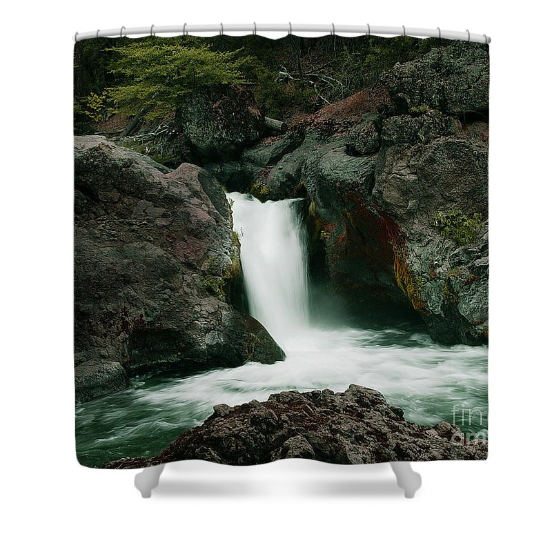 Creek Shower Curtain featuring the photograph Deer Creek Falls by Peter Piatt