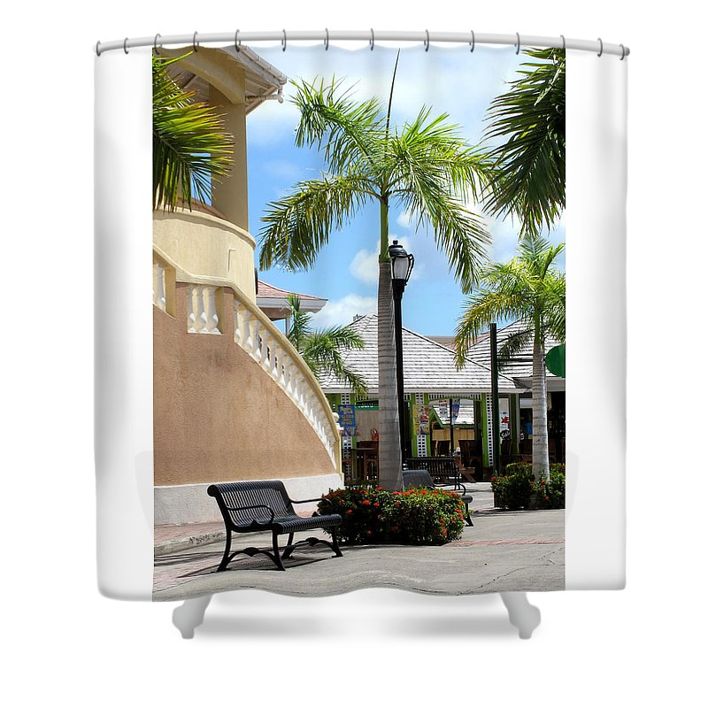 Basseterre Shower Curtain featuring the photograph Definately Not Toronto by Ian MacDonald