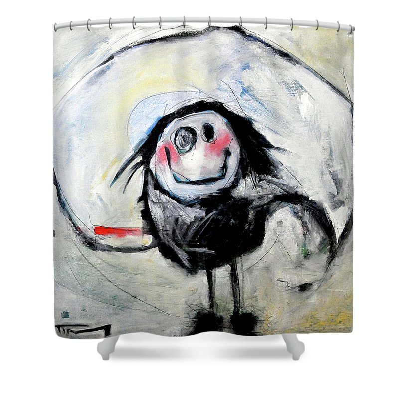 Kid Shower Curtain featuring the painting Degas Dancer by Tim Nyberg