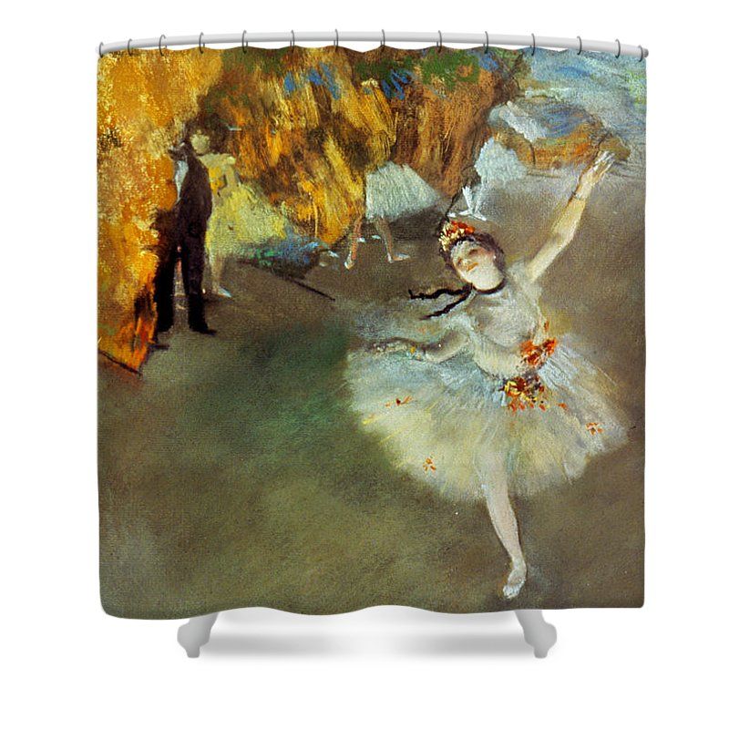 19th Century Shower Curtain featuring the photograph Degas Star, 1876-77. To License For Professional Use Visit Granger.com by Granger