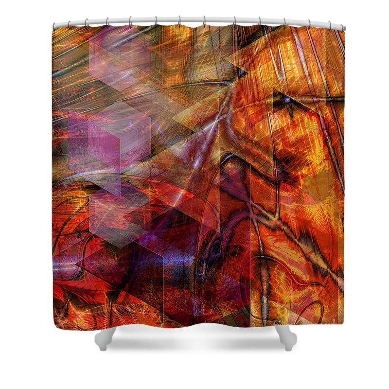 Deguello Sunrise Shower Curtain featuring the digital art Deguello Sunrise by John Beck