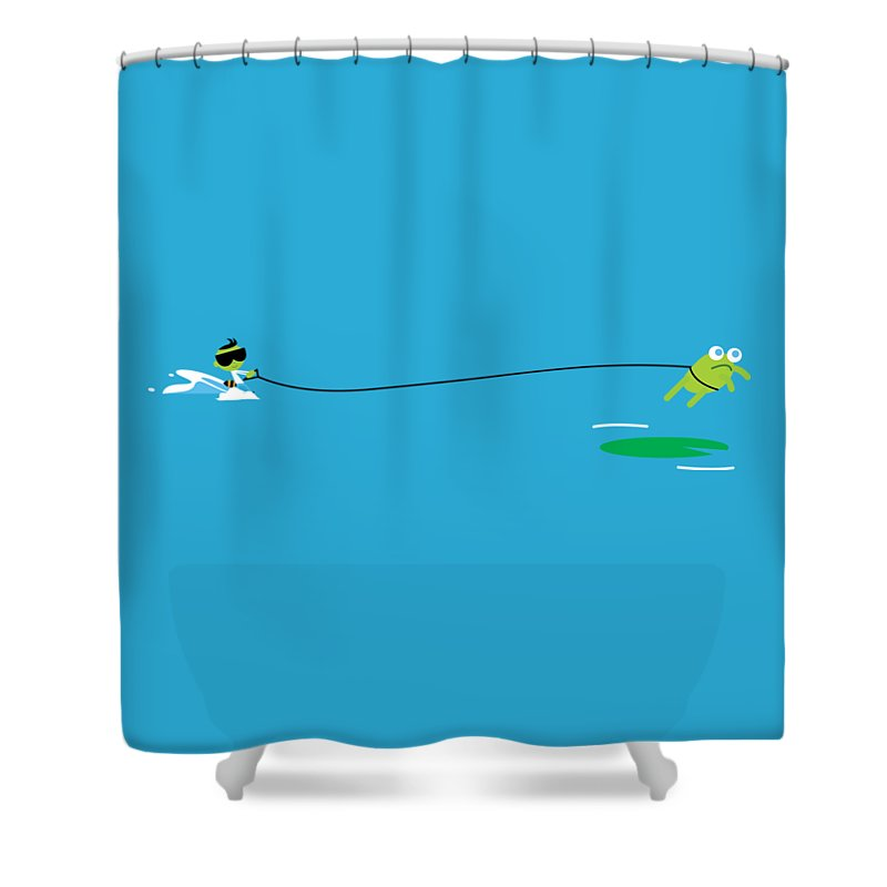 Del Jetski Shower Curtain for Sale by Pbs Kids