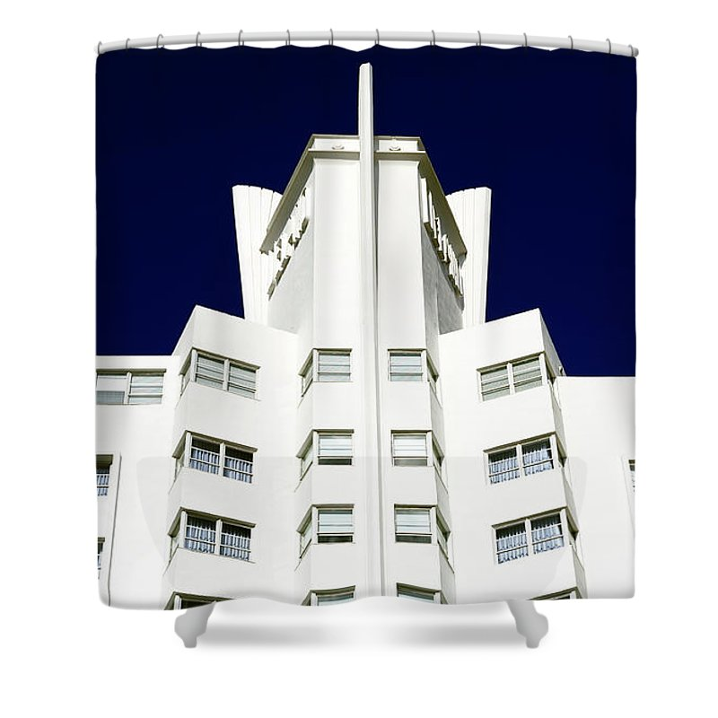 Delano Shower Curtain featuring the photograph Delano South Beach by John Rizzuto