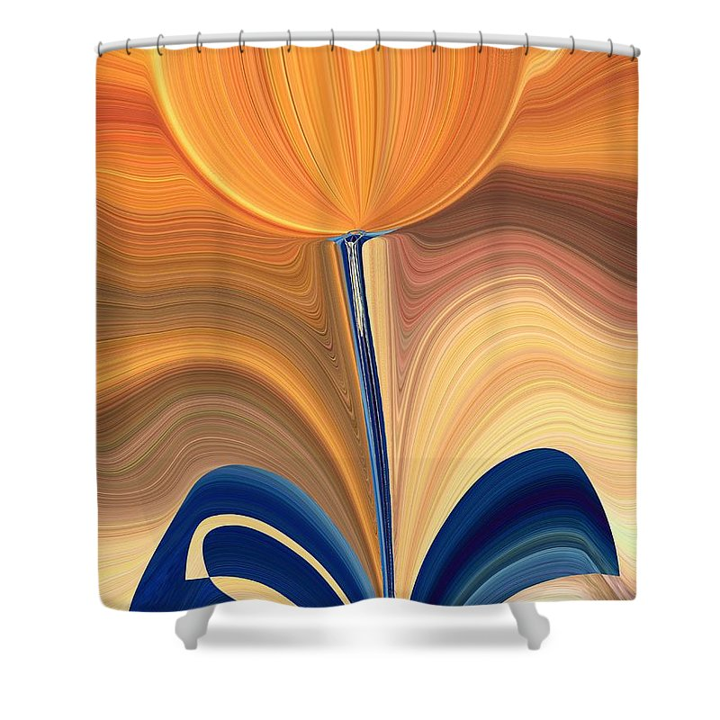 Bloom Shower Curtain featuring the digital art Delighted by Tim Allen