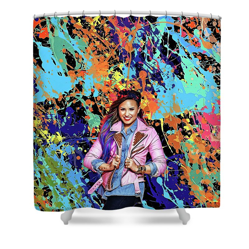 Demi Lovato Shower Curtain Featuring The Painting