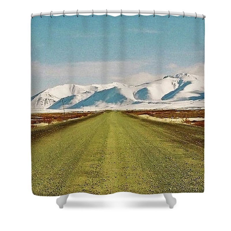 North America Shower Curtain featuring the photograph Dempster Highway - Yukon by Juergen Weiss