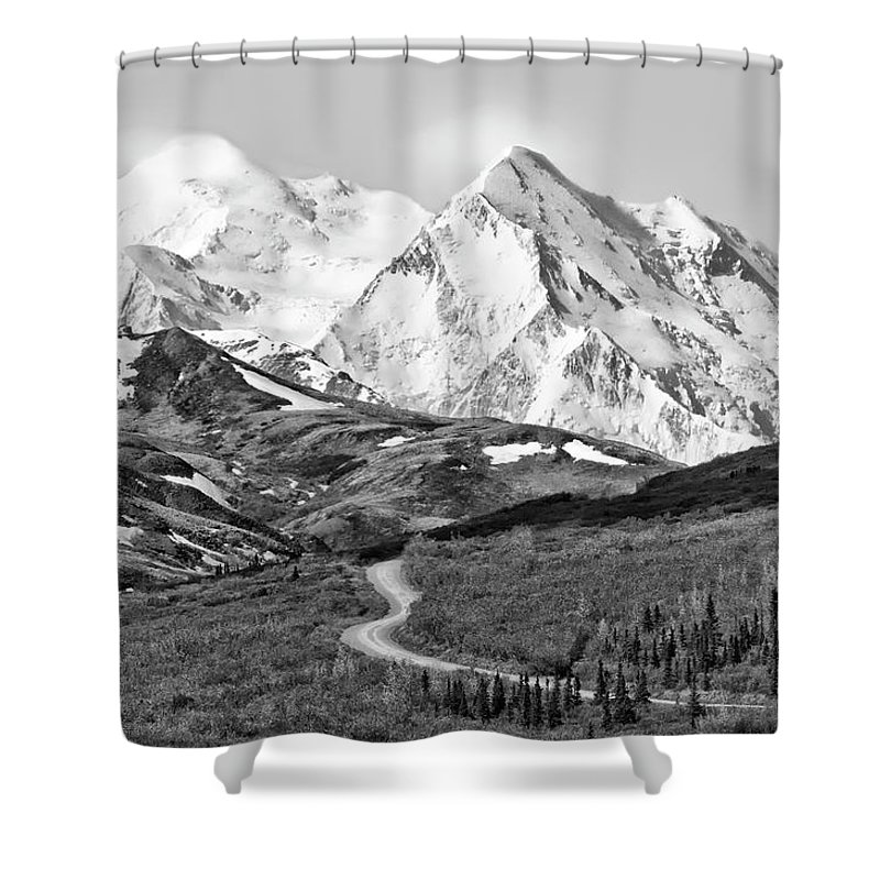 Denali Shower Curtain featuring the photograph Denali - Number One by Paul Schreiber