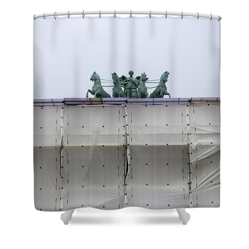 Photography Shower Curtain featuring the photograph Denmark, Copenhagen Rooftop by Keenpress
