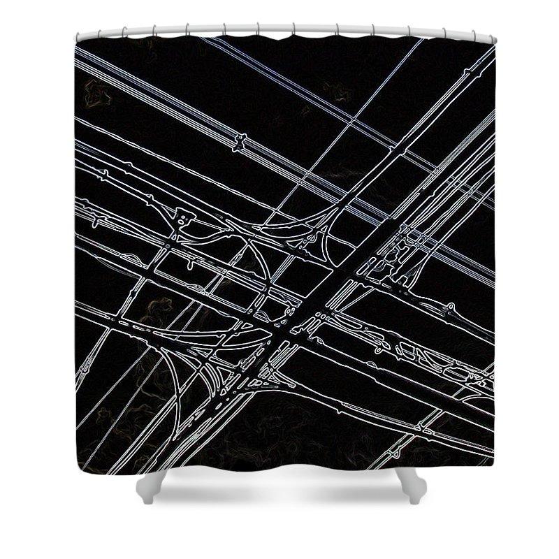 Densen Shower Curtain featuring the photograph Densen On Dark Sky by Baato