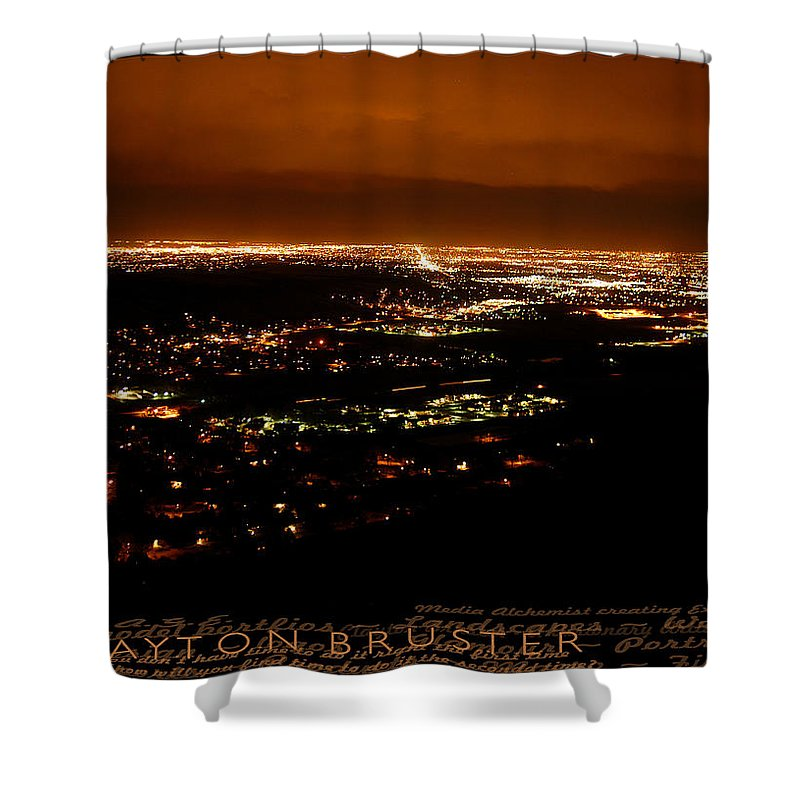 Clay Shower Curtain featuring the photograph Denver Area At Night From Lookout Mountain by Clayton Bruster