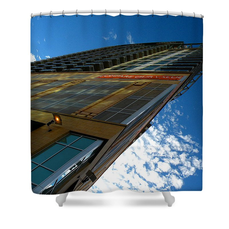 Downtown Shower Curtain featuring the photograph Loft by M Pace