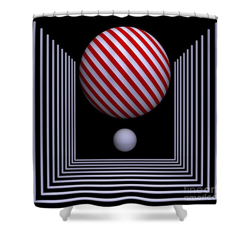3d Shower Curtain featuring the digital art Depth -10- by Issabild -