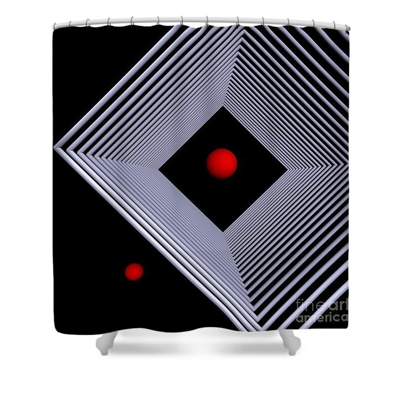 3d Shower Curtain featuring the digital art Depth -4- by Issabild -