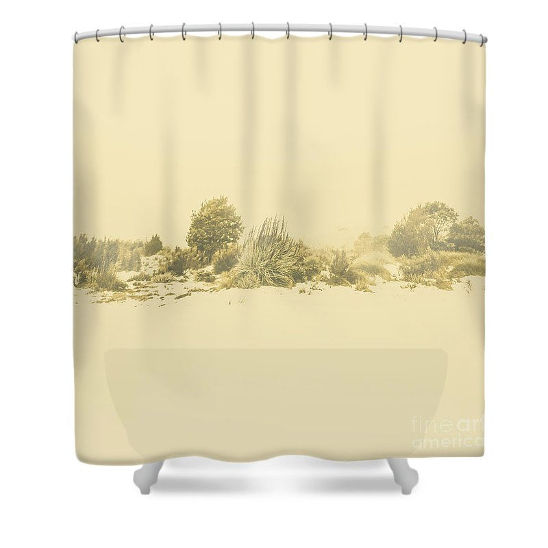 Bleak Shower Curtain Featuring The Photograph Derwent Bridge Winter Scene By Jorgo Photography