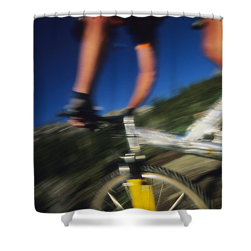 San Juan Mountains Shower Curtain featuring the photograph Descending A Mountain Trail Into Yankee by Bill Hatcher