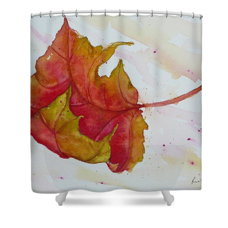 Fall Shower Curtain featuring the painting Descending by Ruth Kamenev
