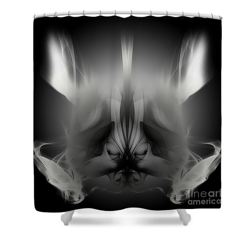 Clay Shower Curtain featuring the digital art Descent by Clayton Bruster