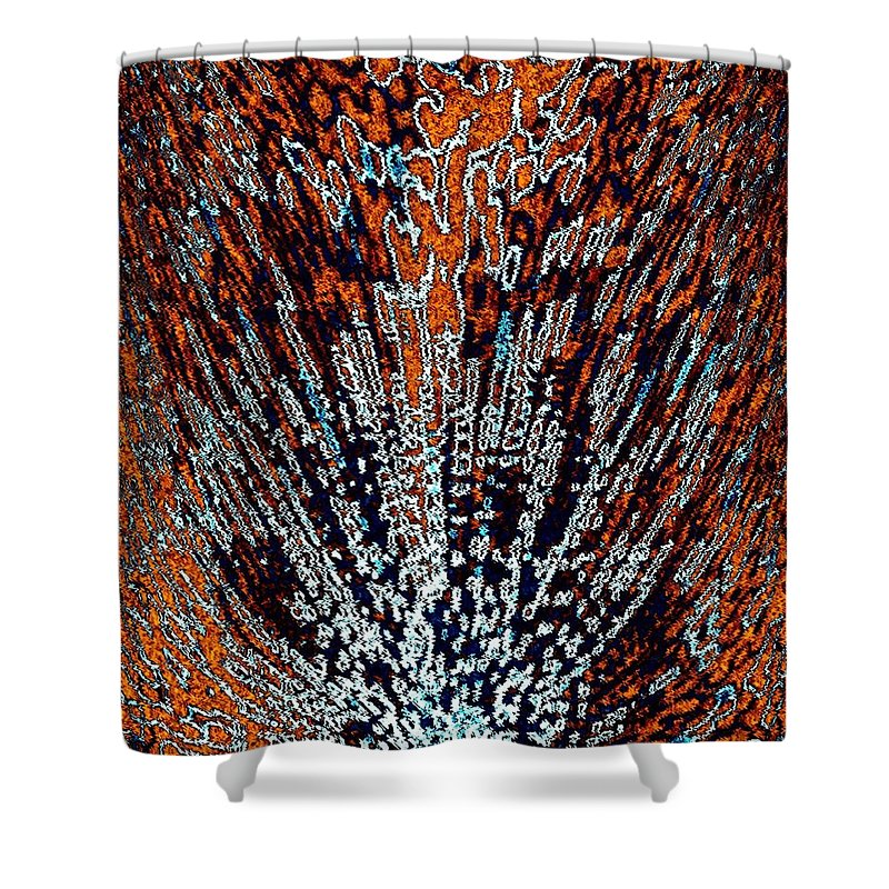 Abstract Shower Curtain featuring the digital art Desert Brambles by Will Borden