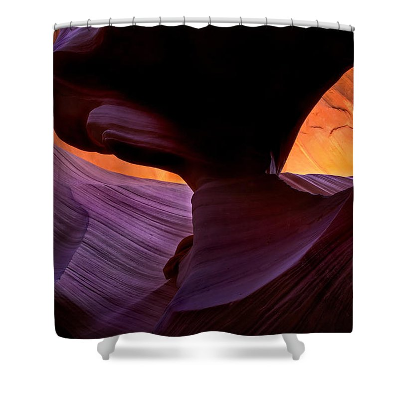 Eye Shower Curtain featuring the photograph Desert Eye by Mike Dawson