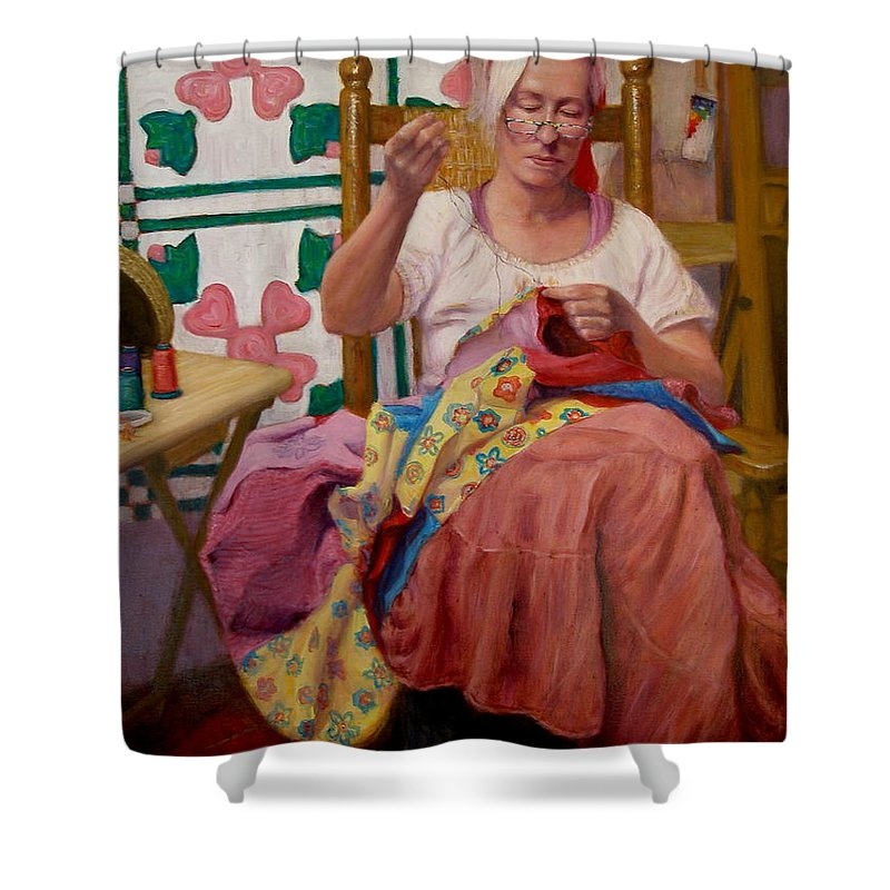 Realism Shower Curtain featuring the painting Desert Rose by Donelli DiMaria