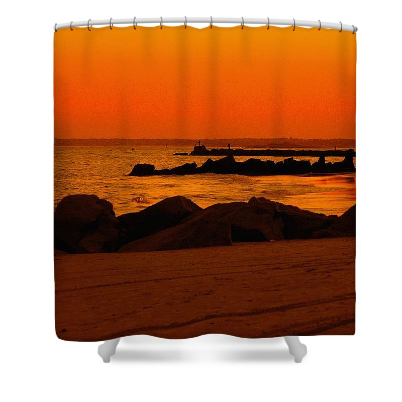 Landscape Shower Curtain featuring the photograph Desert Skies by Kendall Eutemey