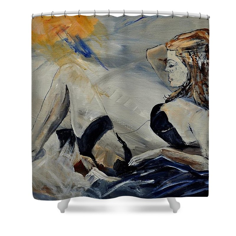 Female Shower Curtain featuring the painting Deshabille 570150 by Pol Ledent