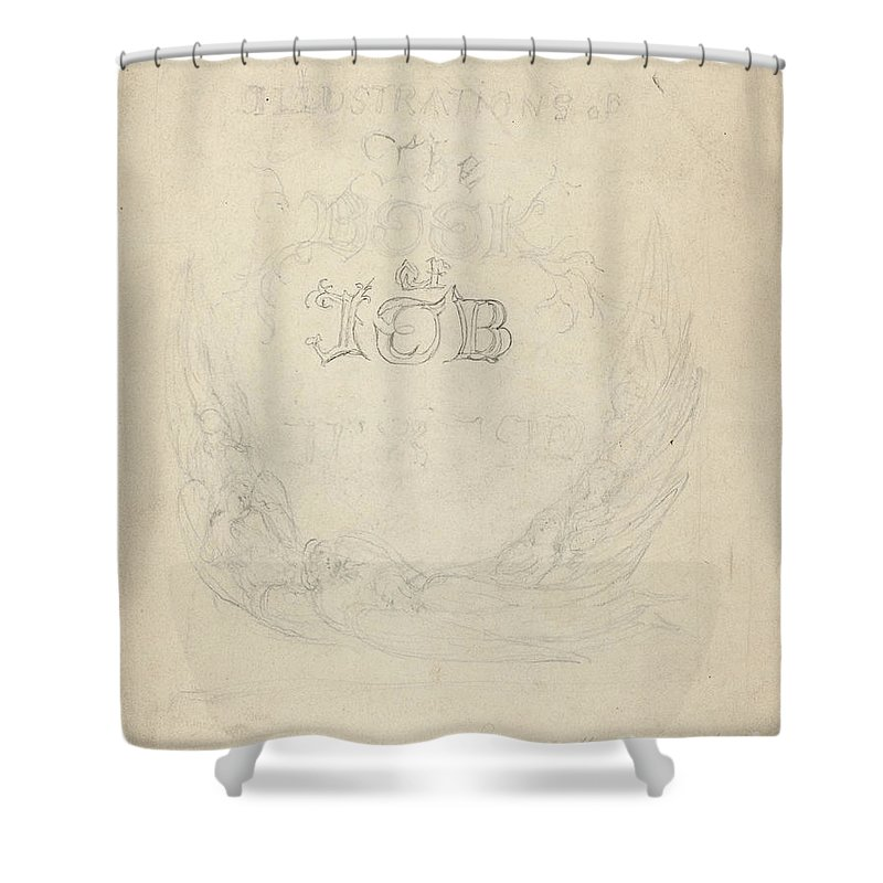 Shower Curtain featuring the drawing Design For A Title-page by William Blake