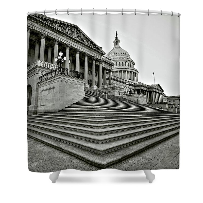 Capitol Shower Curtain featuring the photograph Design In Providence by Mitch Cat