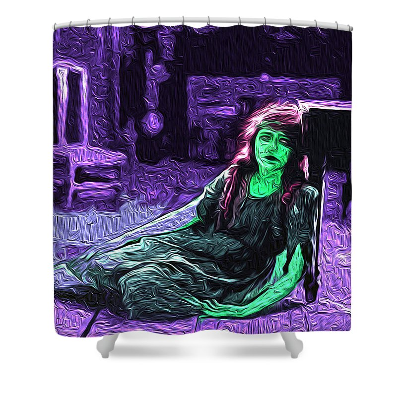 Despair Shower Curtain featuring the digital art Despair by The untalented-talented Artist