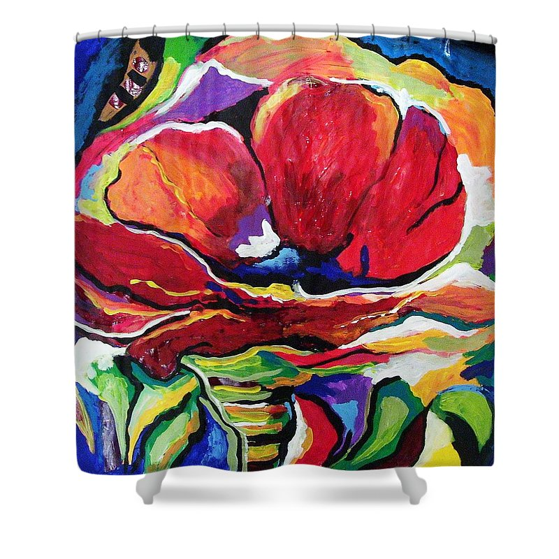 Floral Shower Curtain featuring the painting Desperate For You by Gina Hulse
