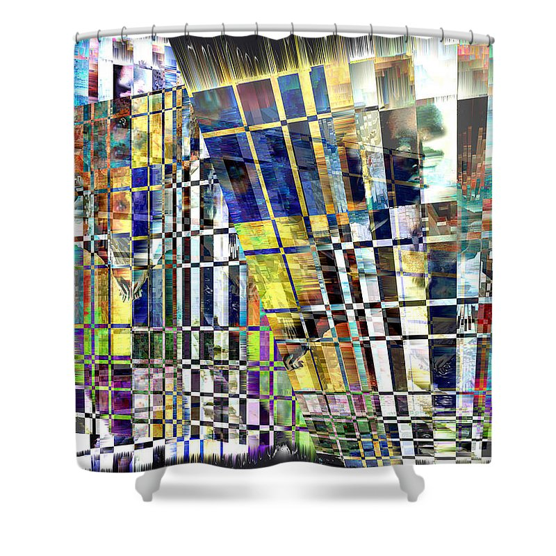 Abstract Shower Curtain featuring the digital art Desperate Reflections by Seth Weaver