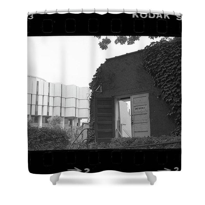 Northwestern University Shower Curtain featuring the photograph Destruction Of The Speech Annex, 1980 by Jeremy Butler