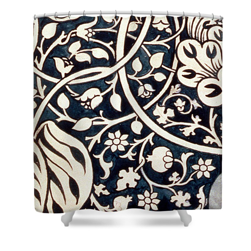 William Morris Shower Curtain Featuring The Drawing Detail Design For Avon Chintz By