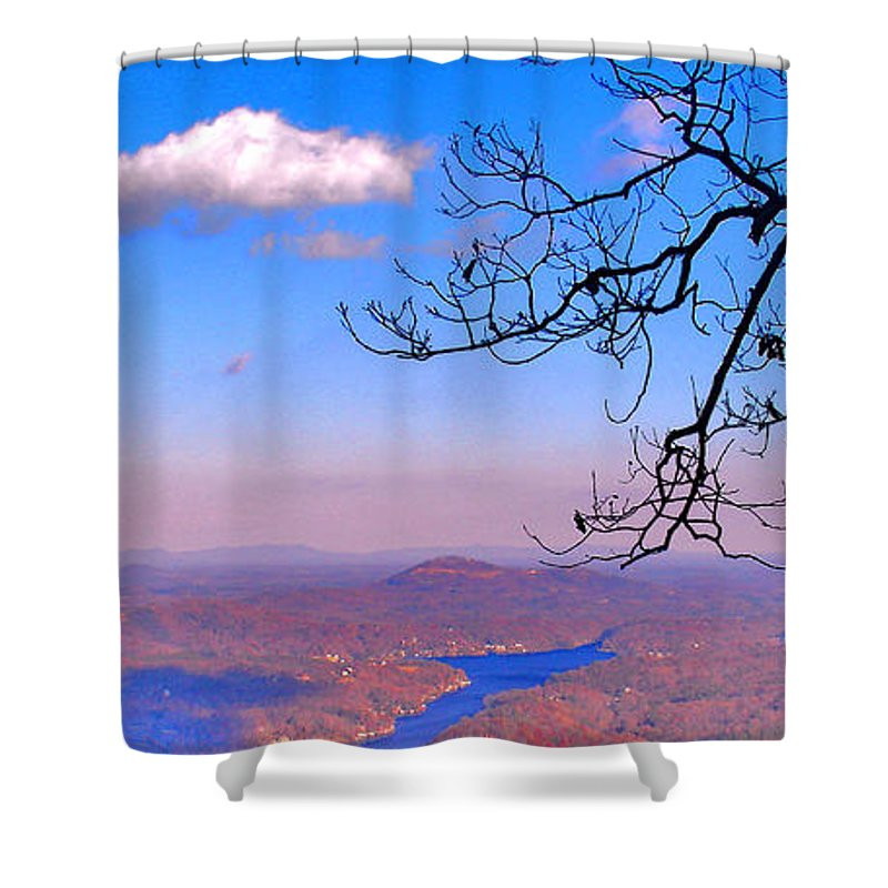 Landscape Shower Curtain featuring the photograph Detail From Reaching For A Cloud by Steve Karol