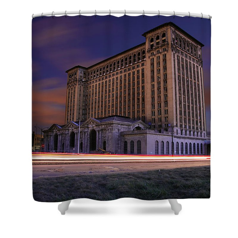 Detroit Shower Curtain featuring the photograph Detroit's Abandoned Michigan Central Station by Gordon Dean II