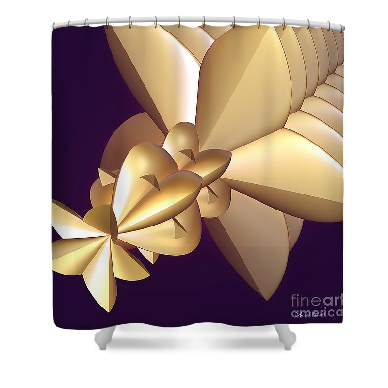Incendia Shower Curtain featuring the digital art Developing New Star by Deborah Benoit
