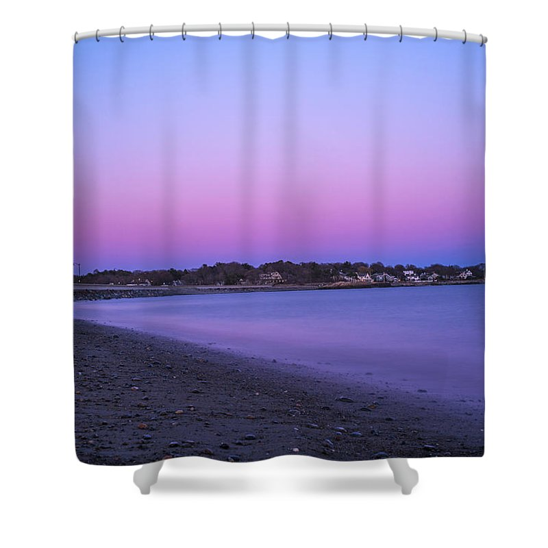 Marblehead Shower Curtain featuring the photograph Devereaux Beach Marblehead Ma At Dusk by Toby McGuire