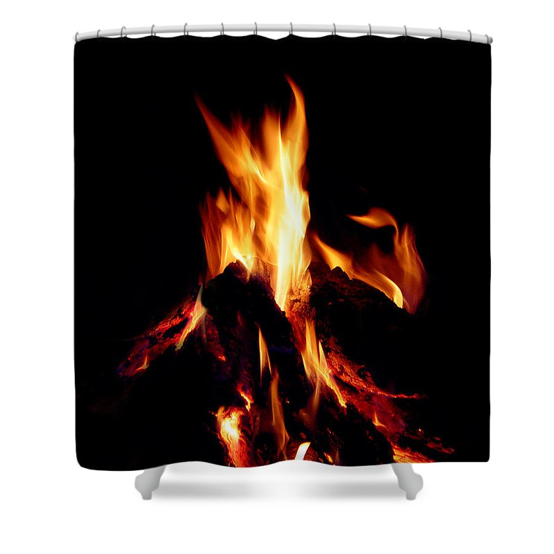 Devil Shower Curtain featuring the photograph Devil Fire by Peter Piatt