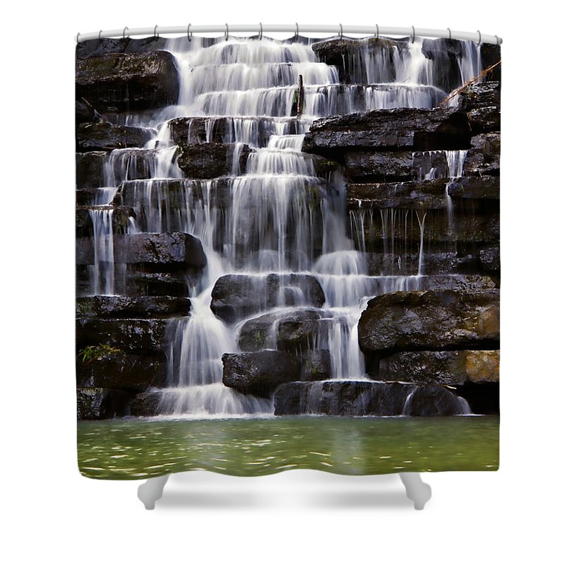lee Creek Shower Curtain featuring the photograph Devil by Lana Trussell