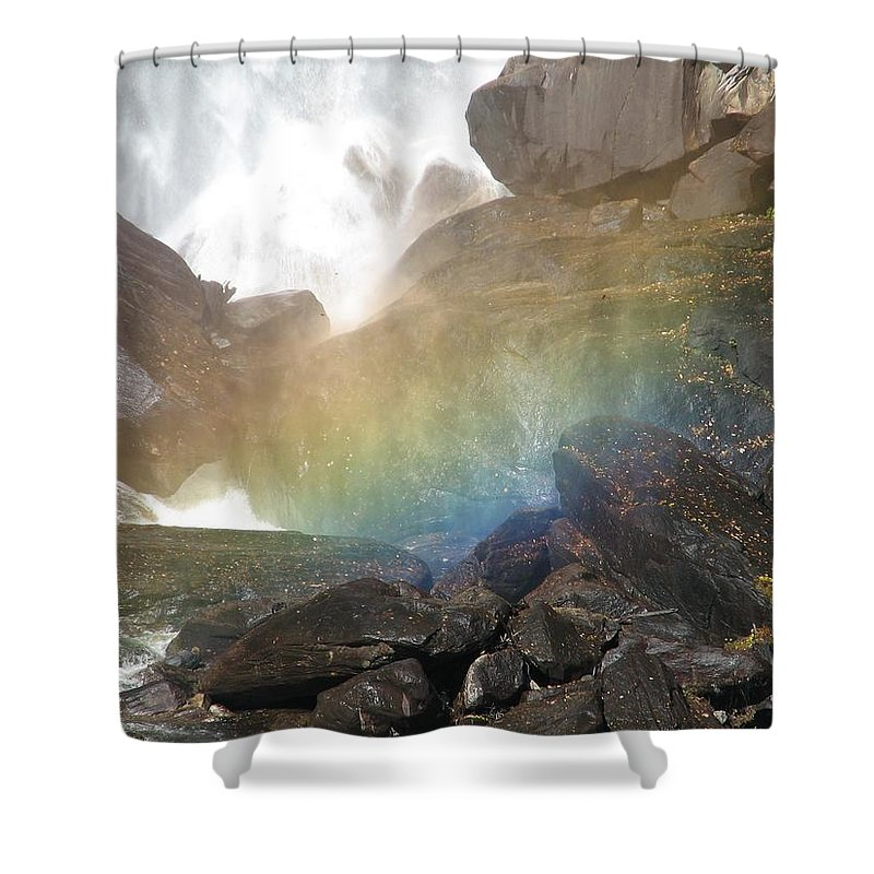 Devil's Fork Shower Curtain featuring the photograph Devil's Rainbow by Kelly Mezzapelle