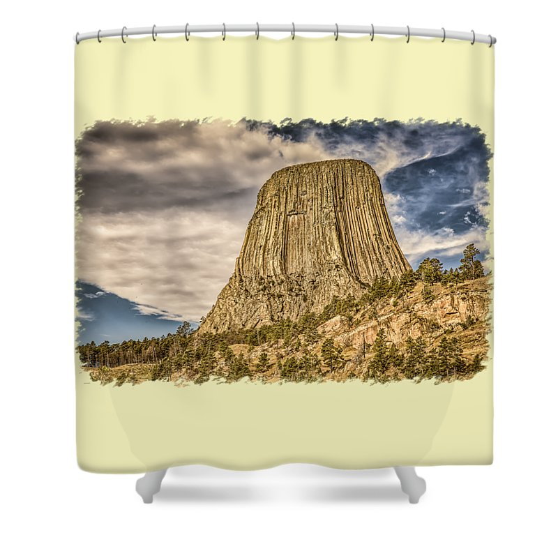 Landscape Shower Curtain featuring the photograph Devils Tower Inspiration 3 by John M Bailey