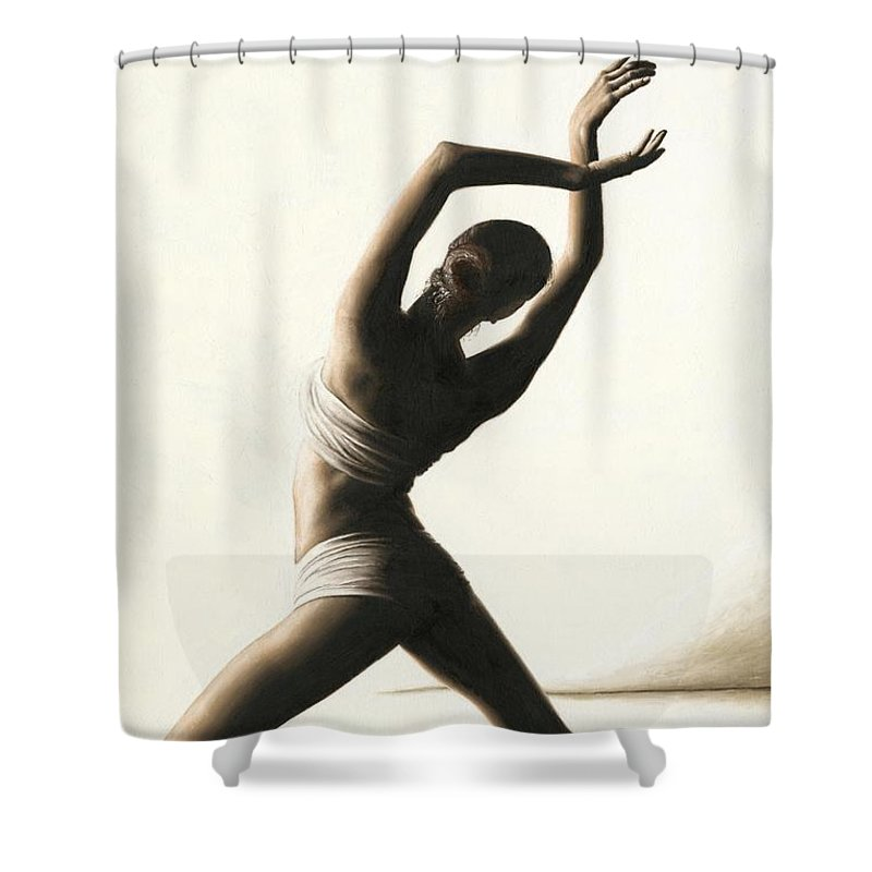 Dancer Shower Curtain Featuring The Painting Devotion To Dance By Richard Young