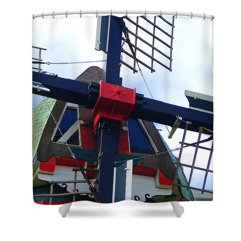 Dezwaan Shower Curtain featuring the photograph Dezwaan Windmill Holland Michigan by Michelle Calkins