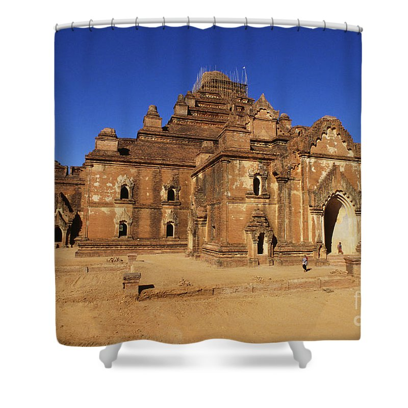 Ancient Shower Curtain featuring the photograph Dhammayangyi Temple by William Waterfall - Printscapes