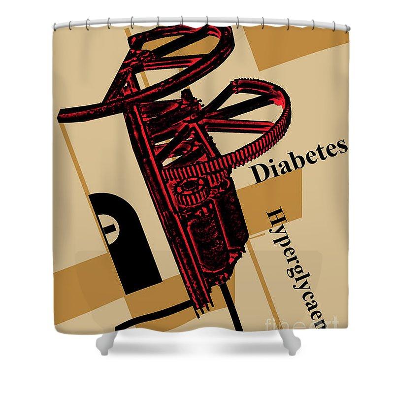Diabetes Shower Curtain featuring the digital art Diabetes No. I by Geordie Gardiner