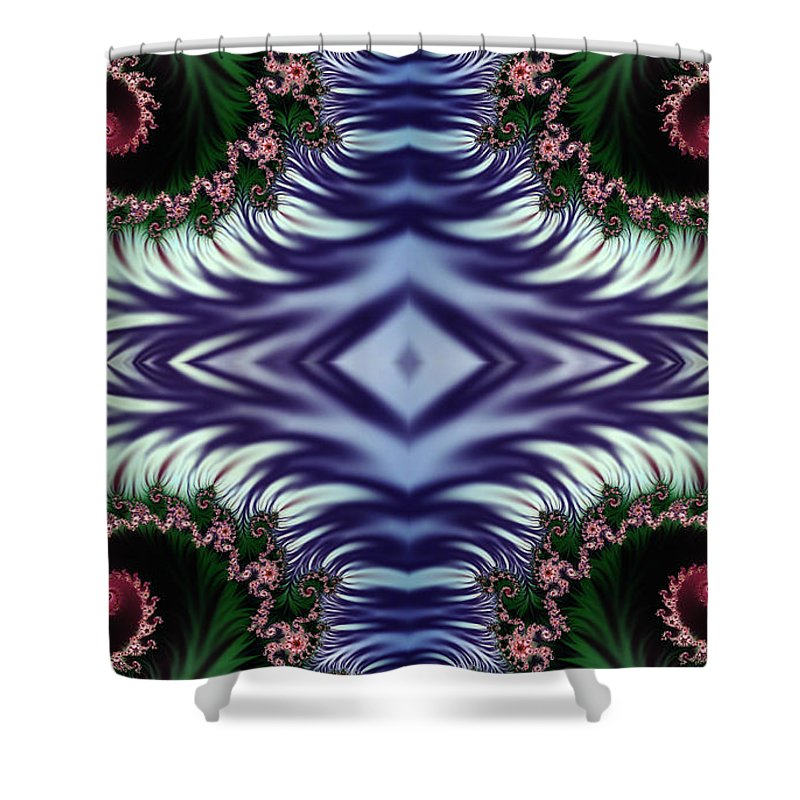 Clay Shower Curtain featuring the digital art Diamonds Are Forever by Clayton Bruster