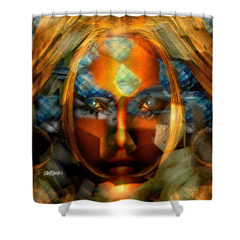Lady Shower Curtain featuring the photograph Diamonella by Seth Weaver